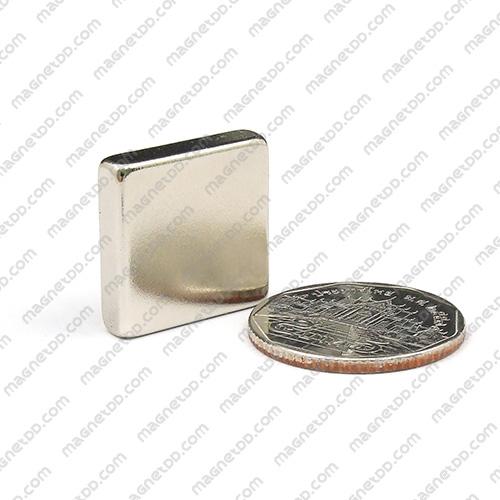 แม่เหล็กแรงสูง Neodymium ขนาด 20mm x 20mm x 5mm แม่เหล็กถาวรนีโอไดเมี่ยม NdFeB (Neodymium)