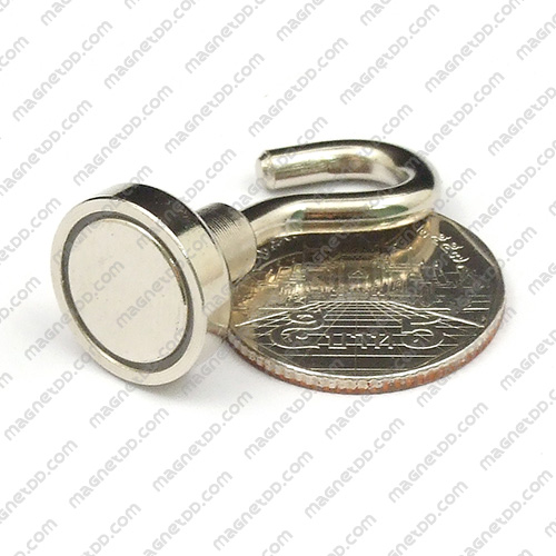 ชุดตะขอแม่เหล็กสูง Neodymium ขนาด 16mm แม่เหล็กถาวรนีโอไดเมี่ยม NdFeB (Neodymium)