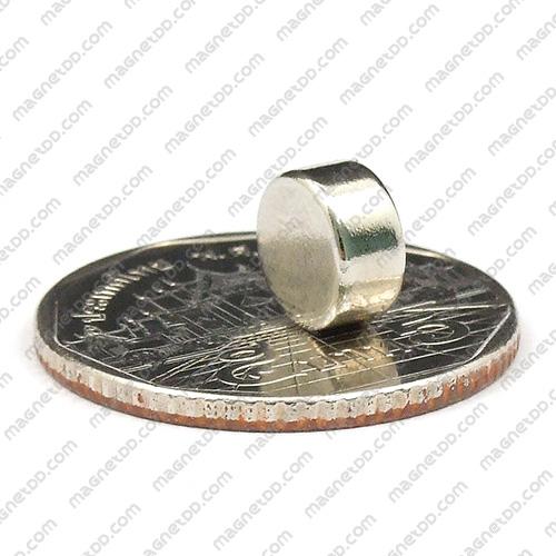 แม่เหล็กแรงสูง Neodymium ขนาด 8mm x 4mm แม่เหล็กถาวรนีโอไดเมี่ยม NdFeB (Neodymium)