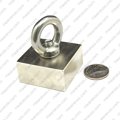 แม่เหล็กแรงสูง Neodymium ขนาด 47mm x 47mm x 23mm รู 10mm แม่เหล็กถาวรนีโอไดเมี่ยม NdFeB (Neodymium)