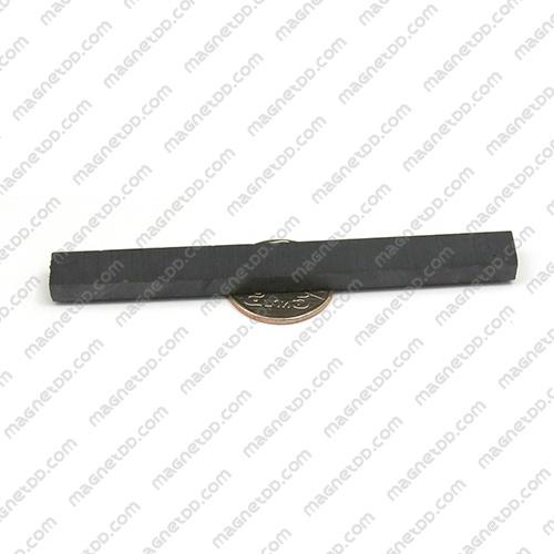 แม่เหล็กเฟอร์ไรท์ Ferrite ขนาด 100mm x 10mm x 5mm แม่เหล็กถาวรเฟอร์ไรท์ (แม่เหล็กดำ) Ferrite