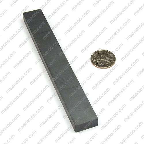 แม่เหล็กเฟอร์ไรท์ Ferrite ขนาด 150mm x 20mm x 10mm แม่เหล็กถาวรเฟอร์ไรท์ (แม่เหล็กดำ) Ferrite