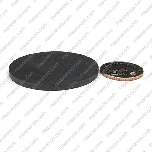 แม่เหล็กเฟอร์ไรท์ Ferrite ขนาด 50mm x 3mm แม่เหล็กถาวรเฟอร์ไรท์ (แม่เหล็กดำ) Ferrite
