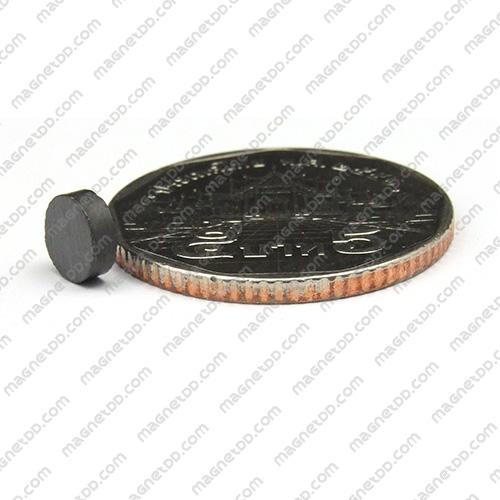 แม่เหล็กเฟอร์ไรท์ Ferrite ขนาด 6mm x 2mm แม่เหล็กถาวรเฟอร์ไรท์ (แม่เหล็กดำ) Ferrite