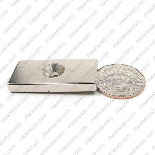 แม่เหล็กแรงสูง Neodymium ขนาด 39mm x 19mm x 4.75mm รู 5mm แม่เหล็กถาวรนีโอไดเมี่ยม NdFeB (Neodymium)