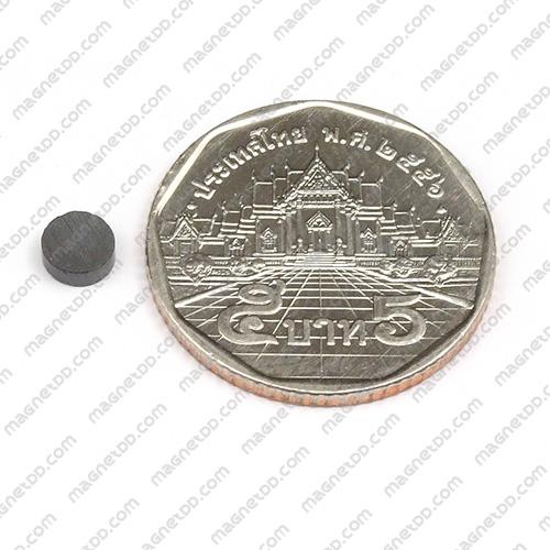 แม่เหล็กเฟอร์ไรท์ Ferrite ขนาด 5mm x 2mm แม่เหล็กถาวรเฟอร์ไรท์ (แม่เหล็กดำ) Ferrite