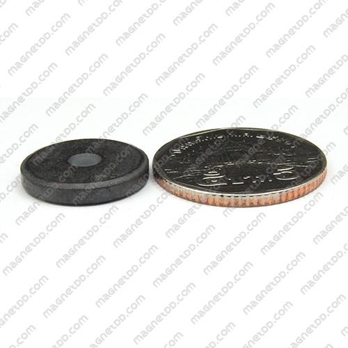 แม่เหล็กเฟอร์ไรท์ Ferrite ขนาด 18mm x 3mm ดูดด้านเดียว แม่เหล็กถาวรเฟอร์ไรท์ (แม่เหล็กดำ) Ferrite