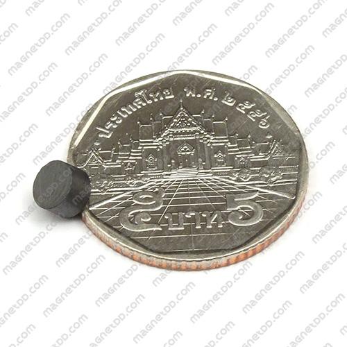 แม่เหล็กเฟอร์ไรท์ Ferrite ขนาด 5mm x 3mm แม่เหล็กถาวรเฟอร์ไรท์ (แม่เหล็กดำ) Ferrite