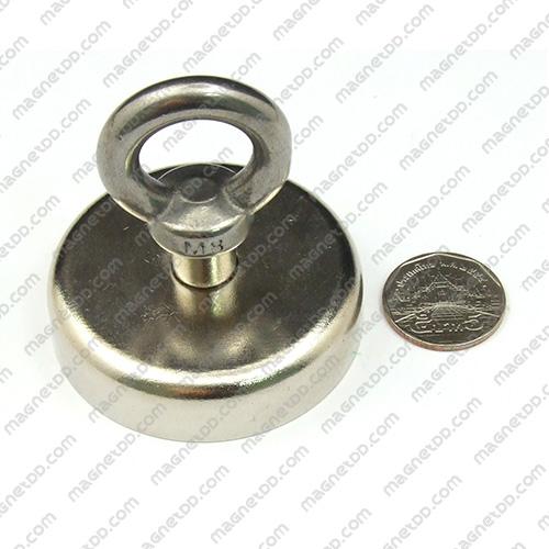 Mounting Magnet ฐานสูง ขนาด 60mm พร้อมห่วง แม่เหล็กถาวรนีโอไดเมี่ยม NdFeB (Neodymium)