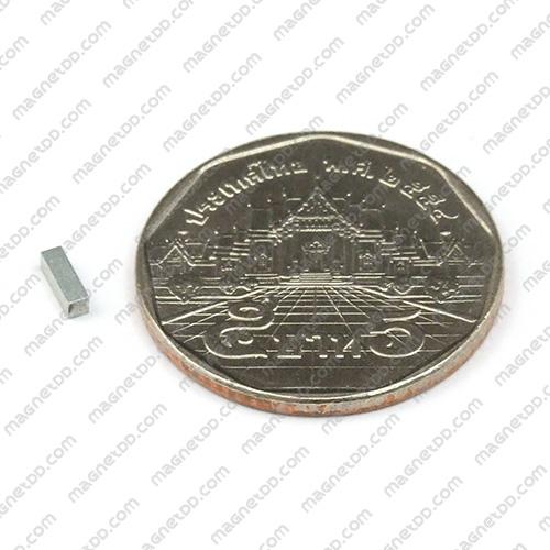 แม่เหล็กแรงสูง Neodymium ขนาด 5mm x 1.5mm x 1.5mm แม่เหล็กถาวรนีโอไดเมี่ยม NdFeB (Neodymium)