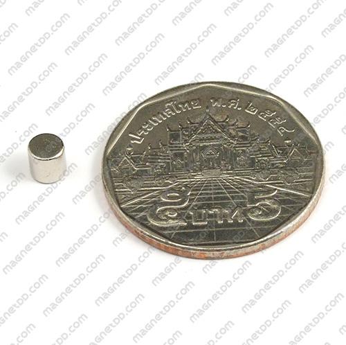 แม่เหล็กแรงสูง Neodymium ขนาด 4mm x 4mm แม่เหล็กถาวรนีโอไดเมี่ยม NdFeB (Neodymium)