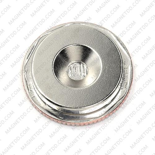 แม่เหล็กแรงสูง Neodymium ขนาด 20mm x 3mm รูขนาด 4.5mm แม่เหล็กถาวรนีโอไดเมี่ยม NdFeB (Neodymium)