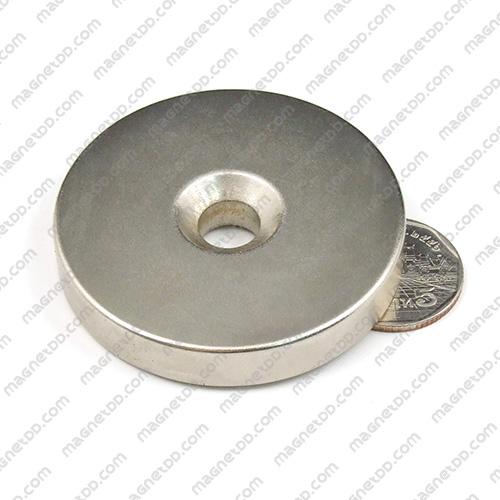 แม่เหล็กแรงสูง Neodymium ขนาด 58mm x 10mm วงใน 10mm แม่เหล็กถาวรนีโอไดเมี่ยม NdFeB (Neodymium)