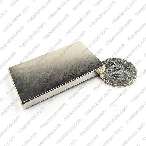 แม่เหล็กแรงสูง Neodymium ขนาด 50mm x 30mm x 4.75mm แม่เหล็กถาวรนีโอไดเมี่ยม NdFeB (Neodymium)