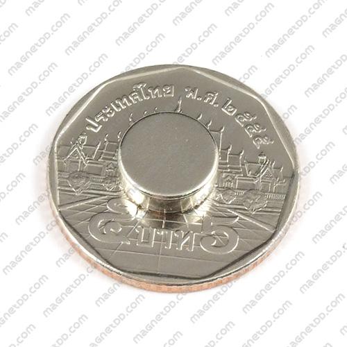แม่เหล็กแรงสูง Neodymium ขนาด 9.5mm x 3.15mm แม่เหล็กถาวรนีโอไดเมี่ยม NdFeB (Neodymium)