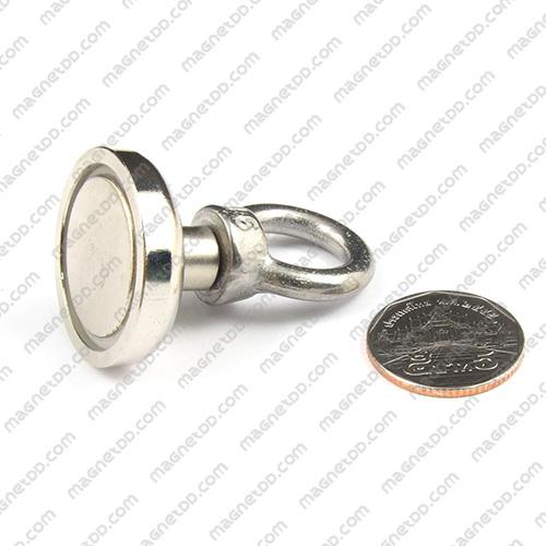 Mounting Magnet ฐานสูง ขนาด 32mm พร้อมห่วง แม่เหล็กถาวรนีโอไดเมี่ยม NdFeB (Neodymium)