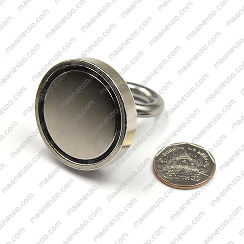 Mounting Magnet ฐานสูง ขนาด 42mm พร้อมห่วง แม่เหล็กถาวรนีโอไดเมี่ยม NdFeB (Neodymium)