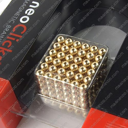 แม่เหล็กแรงสูง NeoClicks ขนาด 5mm. ชุด 216 ชิ้น - สีทอง แม่เหล็กถาวรนีโอไดเมี่ยม NdFeB (Neodymium)