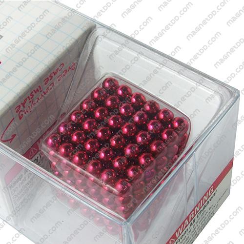 แม่เหล็กแรงสูง Bucky Ball ขนาด 5mm. ชุด 216 ชิ้น – สีชมพู แม่เหล็กถาวรนีโอไดเมี่ยม NdFeB (Neodymium)