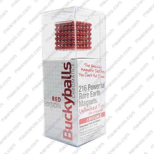 แม่เหล็กแรงสูง Bucky Ball ขนาด 5mm. ชุด 216 ชิ้น – สีแดง แม่เหล็กถาวรนีโอไดเมี่ยม NdFeB (Neodymium)