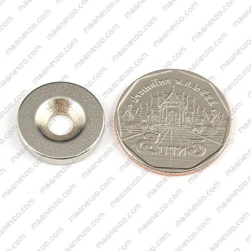 แม่เหล็กแรงสูง Neodymium ขนาด 18mm x 2.75mm วงใน 5mm แม่เหล็กถาวรนีโอไดเมี่ยม NdFeB (Neodymium)