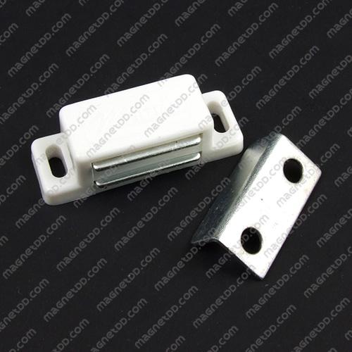 ชุดสลักสัมผัสแม่เหล็ก Meitian 31mm x 15.5mm x 14mm - สีขาว แม่เหล็กถาวรเฟอร์ไรท์ (แม่เหล็กดำ) Ferrite