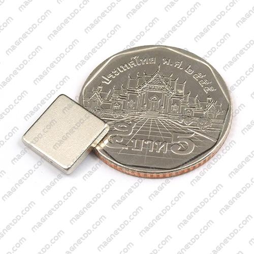 แม่เหล็กแรงสูง Neodymium ขนาด 10mm x 10mm x 1.75mm แม่เหล็กถาวรนีโอไดเมี่ยม NdFeB (Neodymium)