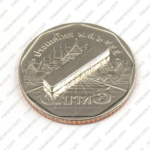 แม่เหล็กแรงสูง Neodymium ขนาด 15mm x 3mm x 1.75mm แม่เหล็กถาวรนีโอไดเมี่ยม NdFeB (Neodymium)