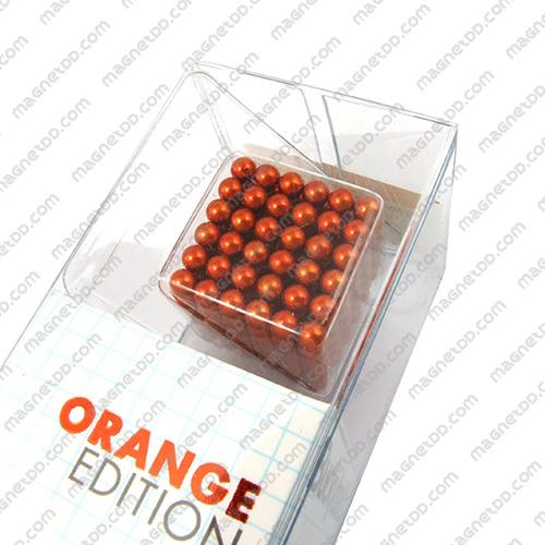 แม่เหล็กแรงสูง Bucky Ball ขนาด 5mm. ชุด 216 ชิ้น – สีส้ม แม่เหล็กถาวรนีโอไดเมี่ยม NdFeB (Neodymium)