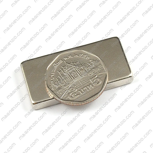 แม่เหล็กแรงสูง Neodymium ขนาด 40mm x 20mm x 5mm แม่เหล็กถาวรนีโอไดเมี่ยม NdFeB (Neodymium)