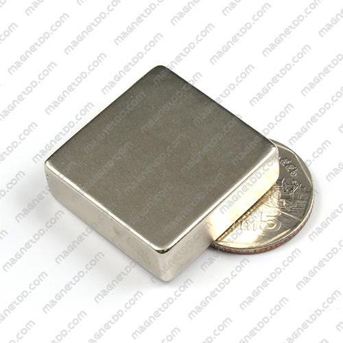 แม่เหล็กแรงสูง Neodymium ขนาด 30mm x30mm x 10mm แม่เหล็กถาวรนีโอไดเมี่ยม NdFeB (Neodymium)