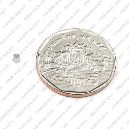 แม่เหล็กแรงสูง Neodymium ขนาด 2mm x 2mm - ชุด 100ชิ้น แม่เหล็กถาวรนีโอไดเมี่ยม NdFeB (Neodymium)