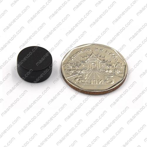 แม่เหล็กแรงสูง หุ้มพลาสติก กันน้ำ ขนาด 12.7mm x 6.2mm - สีดำ แม่เหล็กถาวรนีโอไดเมี่ยม NdFeB (Neodymium)