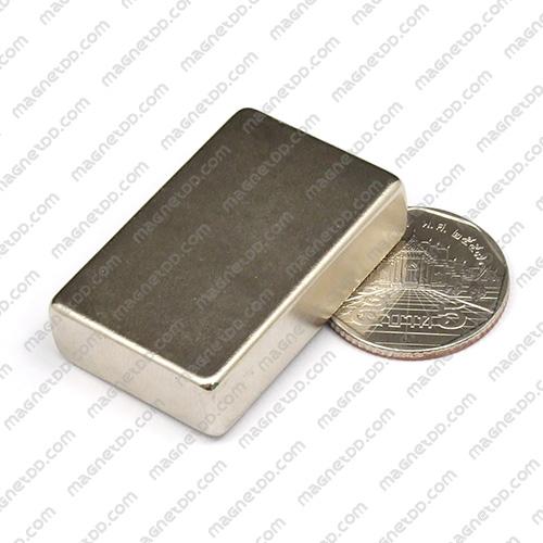 แม่เหล็กแรงสูง Neodymium ขนาด 40mm x 25mm x 10mm แม่เหล็กถาวรนีโอไดเมี่ยม NdFeB (Neodymium)