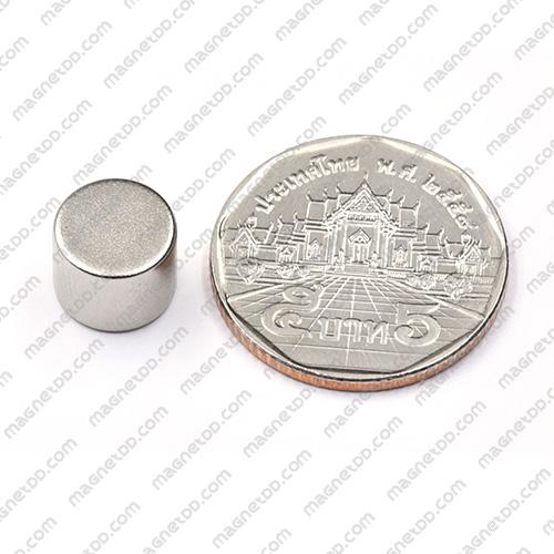 แม่เหล็กแรงสูง Neodymium ขนาด 10mm x 8mm แม่เหล็กถาวรนีโอไดเมี่ยม NdFeB (Neodymium)