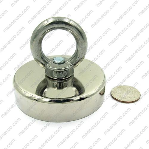 Mounting Magnet ขนาด 75mm พร้อมห่วง แม่เหล็กถาวรนีโอไดเมี่ยม NdFeB (Neodymium)