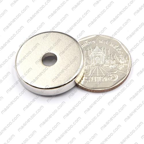 แม่เหล็กแรงสูง Neodymium ขนาด 25mm x 5mm วงใน 5mm แม่เหล็กถาวรนีโอไดเมี่ยม NdFeB (Neodymium)