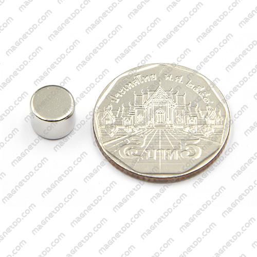 แม่เหล็กแรงสูง Neodymium ขนาด 8mm x 6mm แม่เหล็กถาวรนีโอไดเมี่ยม NdFeB (Neodymium)