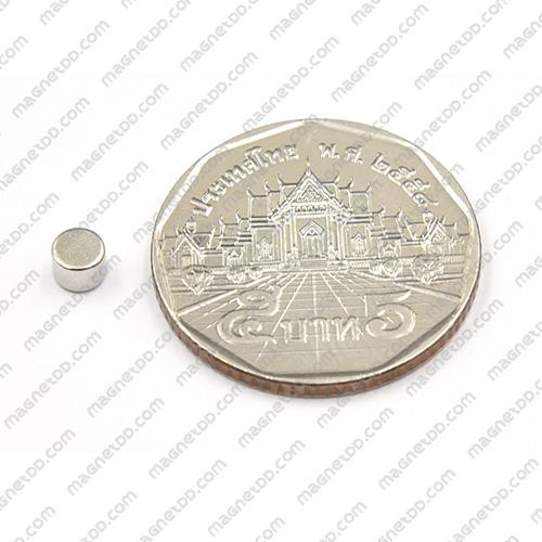 แม่เหล็กแรงสูง Neodymium ขนาด 4mm x 3mm แม่เหล็กถาวรนีโอไดเมี่ยม NdFeB (Neodymium)
