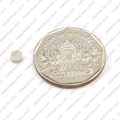 แม่เหล็กแรงสูง Neodymium ขนาด 4mm x 1.5mm แม่เหล็กถาวรนีโอไดเมี่ยม NdFeB (Neodymium)