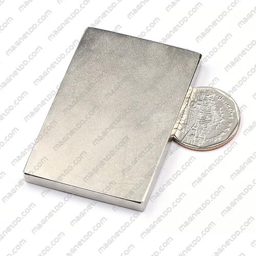 แม่เหล็กแรงสูง Neodymium ขนาด 60mm x 40mm x 5mm แม่เหล็กถาวรนีโอไดเมี่ยม NdFeB (Neodymium)