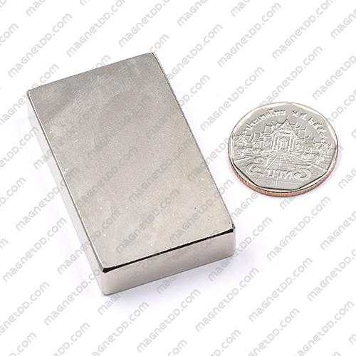 แม่เหล็กแรงสูง Neodymium ขนาด 50mm x 30mm x 10mm แม่เหล็กถาวรนีโอไดเมี่ยม NdFeB (Neodymium)