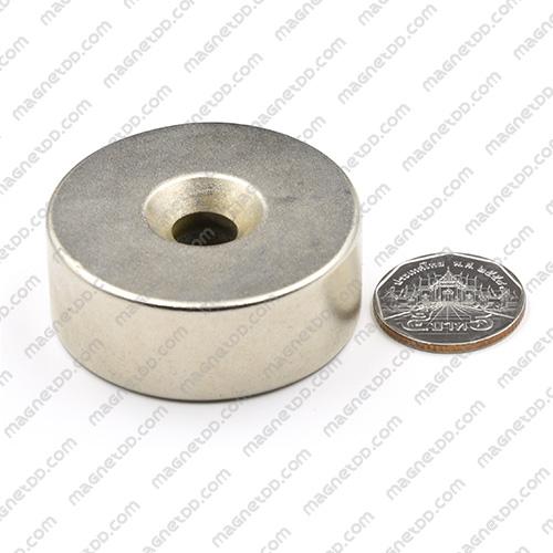 แม่เหล็กแรงสูง Neodymium 49mm x 19mm วงใน 10mm แม่เหล็กถาวรนีโอไดเมี่ยม NdFeB (Neodymium)