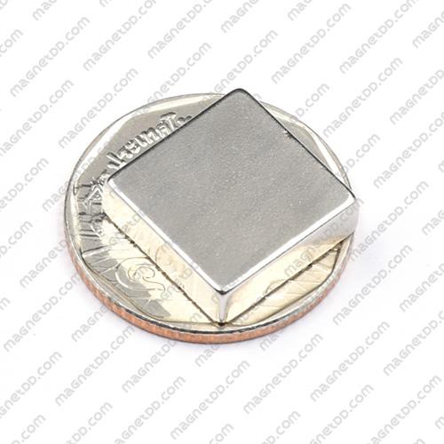 แม่เหล็กแรงสูง Neodymium ขนาด 15mm x 15mm x 4.75mm แม่เหล็กถาวรนีโอไดเมี่ยม NdFeB (Neodymium)