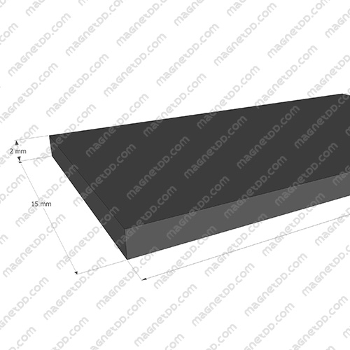 แม่เหล็กยาง ขนาด 15mm x 2mm ยาว 10เมตร - ยกม้วน แม่เหล็กถาวรยาง Flexible Rubber Magnets