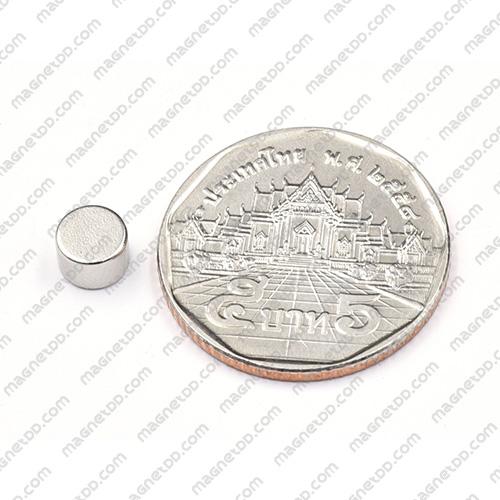 แม่เหล็กแรงสูง Neodymium ขนาด 6mm x 4mm แม่เหล็กถาวรนีโอไดเมี่ยม NdFeB (Neodymium)