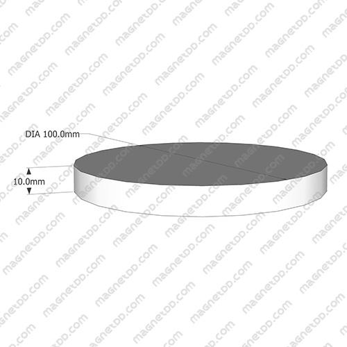 แม่เหล็กแรงสูง Neodymium ขนาด 100mm x 10mm แม่เหล็กถาวรนีโอไดเมี่ยม NdFeB (Neodymium)