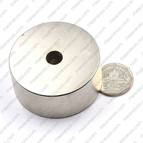 แม่เหล็กแรงสูง Neodymium 55mm x 25mm วงใน 10mm แม่เหล็กถาวรนีโอไดเมี่ยม NdFeB (Neodymium)