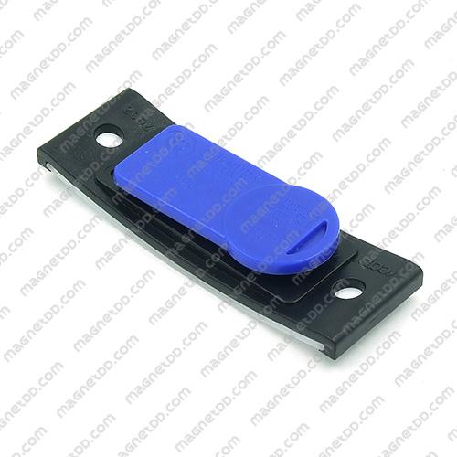 กรอบใส่ป้ายชื่อ แม่เหล็ก ขนาด 63mm x 22mm แม่เหล็กถาวรนีโอไดเมี่ยม NdFeB (Neodymium)