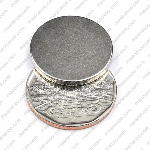 แม่เหล็กแรงสูง Neodymium ขนาด 22mm x 2mm แม่เหล็กถาวรนีโอไดเมี่ยม NdFeB (Neodymium)